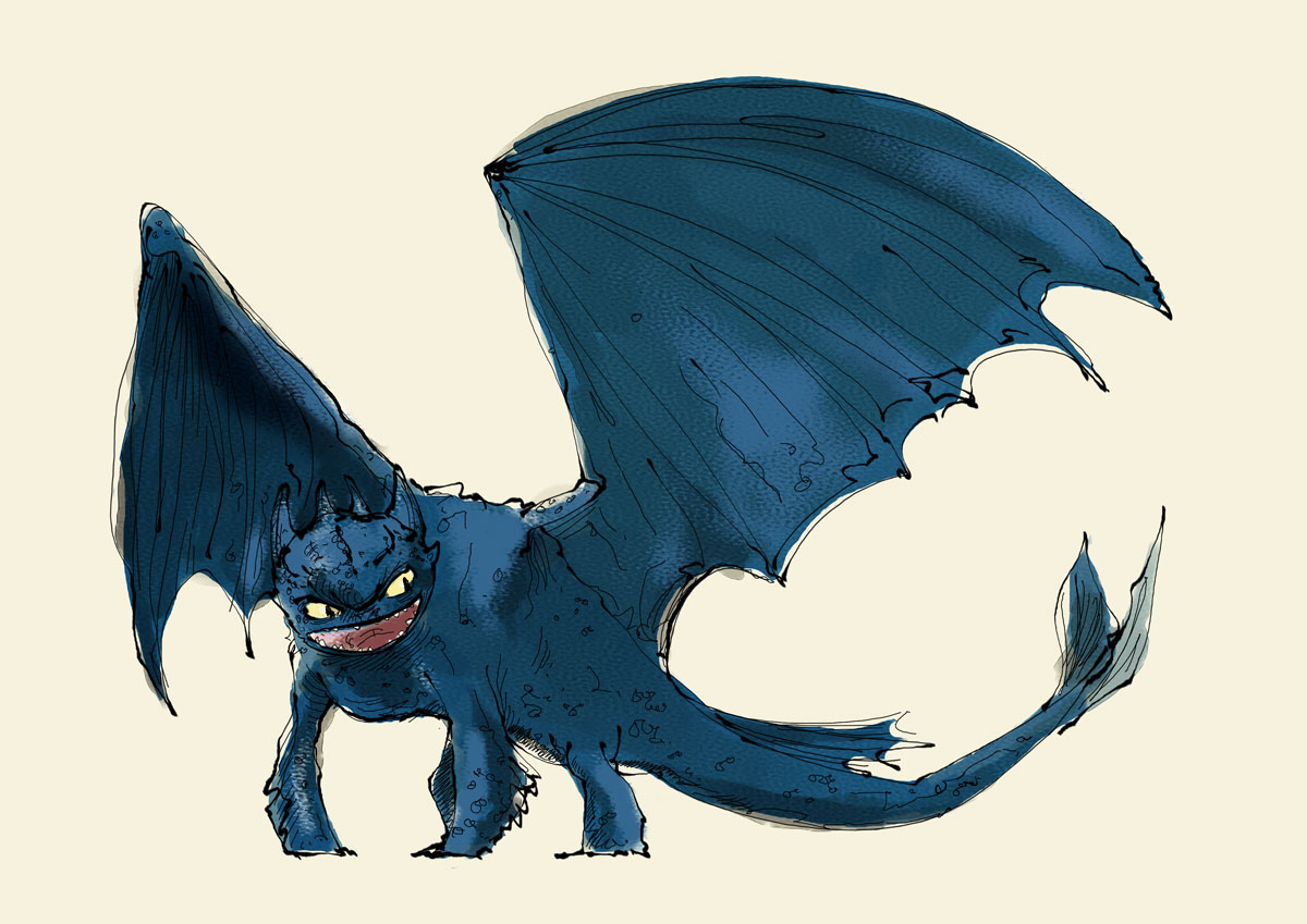 Toothless art image